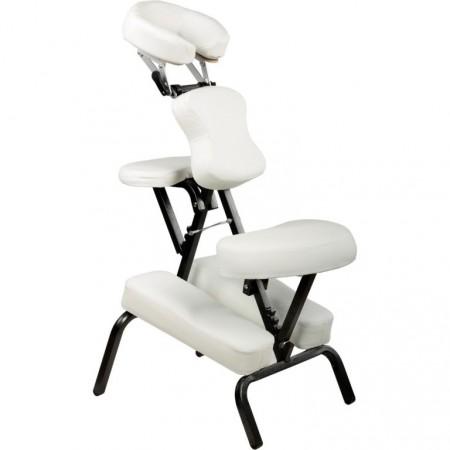 Profesionální masážní židle skládací, nosnost 130 kg, bílá