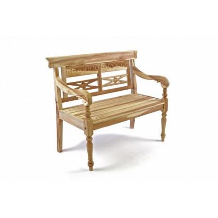Okrasná dřevěná vyřezávaná lavice, teakové dřevo