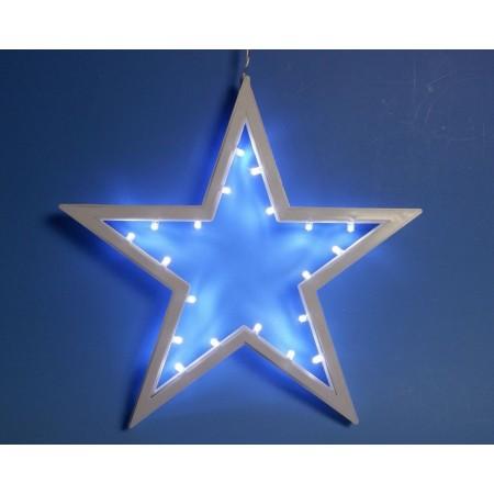Závěsná vánoční hvězda do okna 25,5 cm, svítící LED diody, na baterie