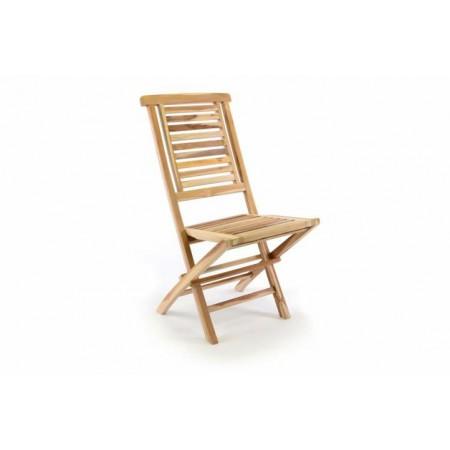 Týková zahradní židle bez područek, skládací