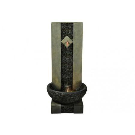 Ozdobná kašna ke stěně - kohout s tekoucí vodou, osvětlená, 89 cm