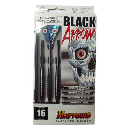 3 ks šipky s plastovými hroty 18 g, black