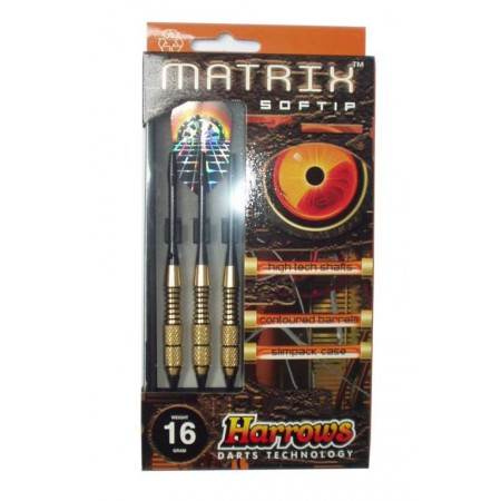 3 ks softové šipky s plastovými hroty 14 g, matrix