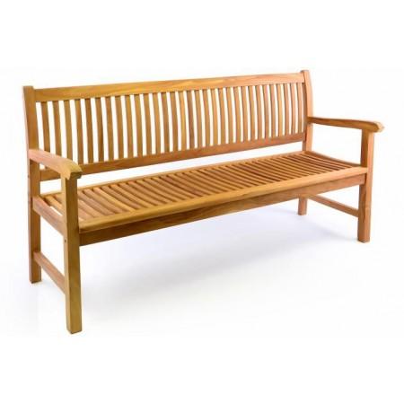 Dřevěná venkovní lavice pro 3 osoby, 180 cm, týkové dřevo