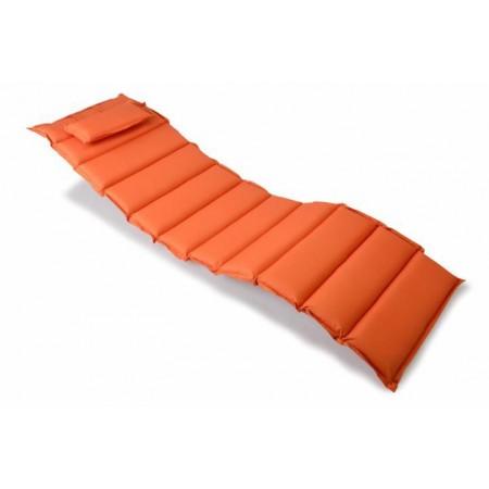 Vysoké polstrování na zahradní lehátko, pratelný potah, oranžové