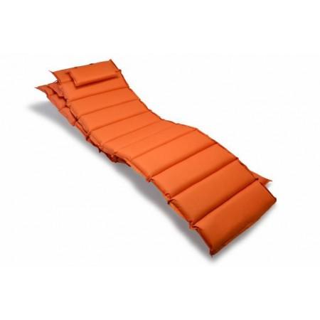2 ks vysoké polstrování na zahradní lehátko, pratelný potah, oranžové