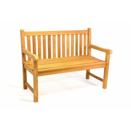 Dřevěná zahradní lavice pro 2 osoby 120 cm, teakové dřevo