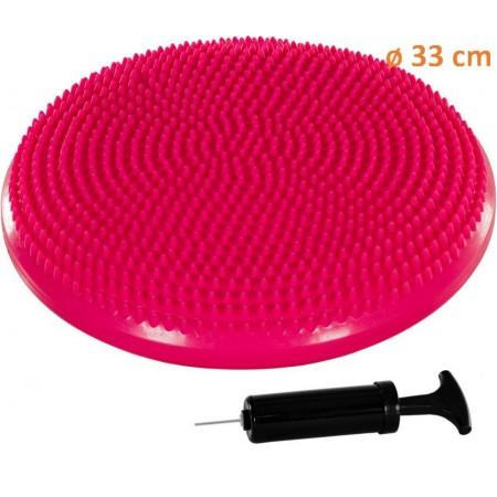 Nafukovací masážní polštář na židli 33 cm, růžový
