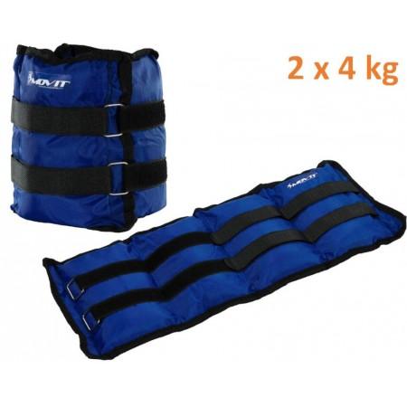 Fitness zátěže na ruce a nohy 2 x 4 kg, modré