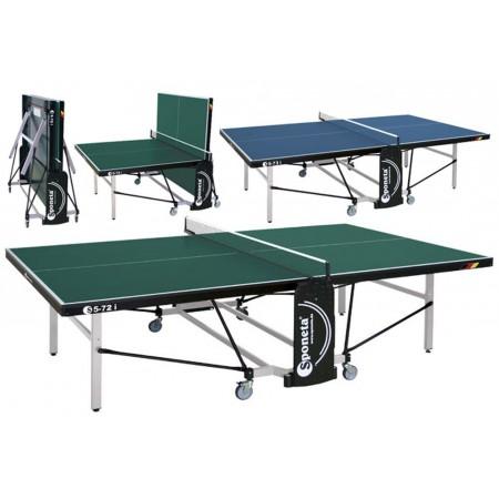 Pingpongový stůl závodní, 4 kolečka, zelený