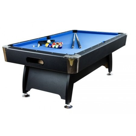 Kulečníkový stůl 8 ft, centrální vracení koulí, modrý