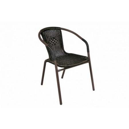 Ratanová stohovatelná zahradní židle, ocelový rám