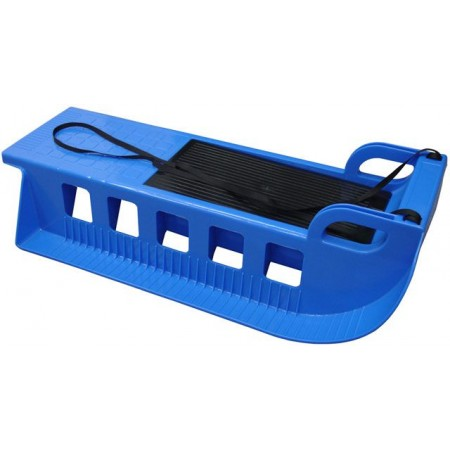 Plastové sáňky s úložným prostorem, 85 cm, modré