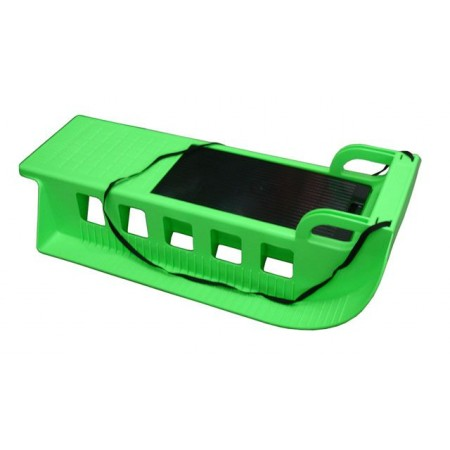 Plastové sáňky s úložným prostorem, 85 cm, zelené