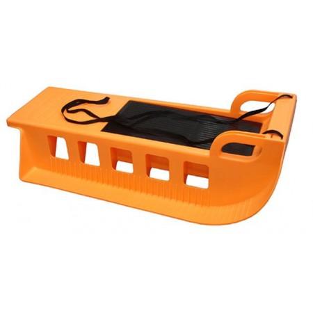 Plastové sáňky s úložným prostorem, 85 cm, oranžové