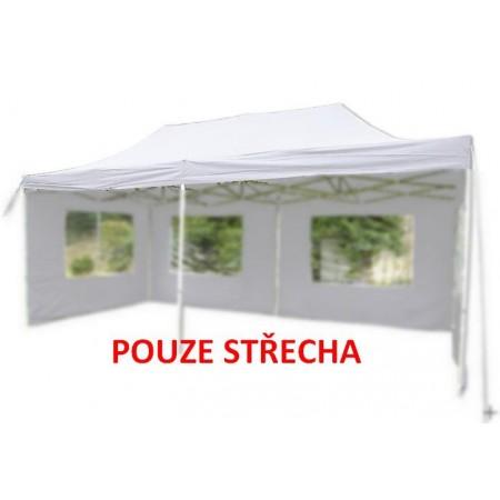 Samostatná střecha pro zahradní párty stany 3x6m, bílá