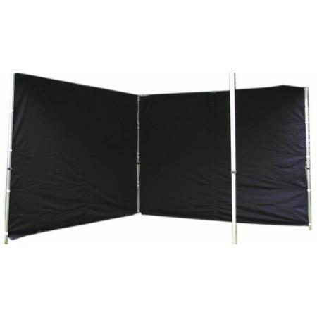 2 ks boční stěna pro zahradní stan profi, bez oken, černá