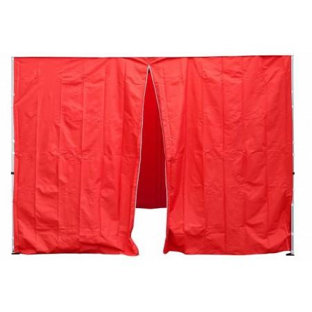 2 ks boční stěna pro zahradní stany profi, 1 ks se zipem, červená