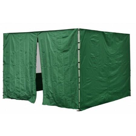 2 ks boční stěna pro zahradní stany profi, 1 ks se zipem, zelená
