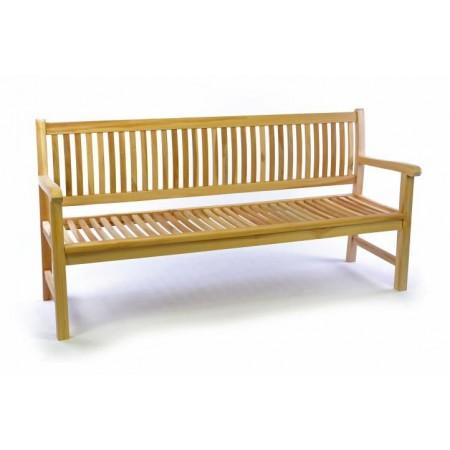 Dřevěná zahradní lavice z masivu 180 cm, teakové dřevo