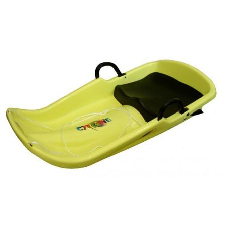 Dětské plastové boby se sedátkem a brzdami, žluté