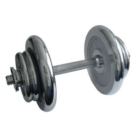 Jednoruční nakládací činka chromovaná, 17 kg