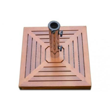 Čtvercový okrasný stojan na slunečník, dřevěné obložení, 25 kg