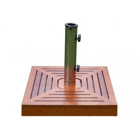 Čtvercový okrasný stojan na slunečník, dřevěné obložení, 40 kg