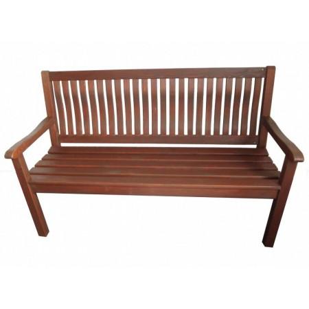 Venkovní dřevěná lavice 150 cm, tm. hnědá borovice