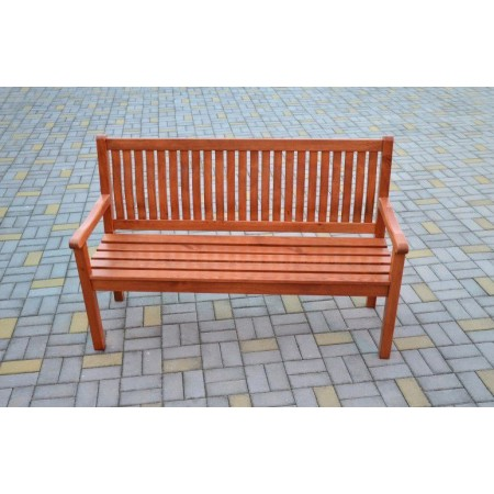 Venkovní dřevěná lavice 150 cm, sv. hnědá borovice