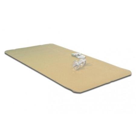Protiskluzová podložka na jógu a cvičení, 190 x 102 x 1,5 cm, béžová