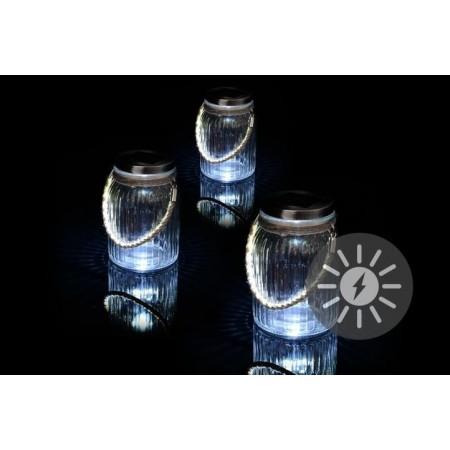 3 ks solární lampička- sklenice, k zavěšení