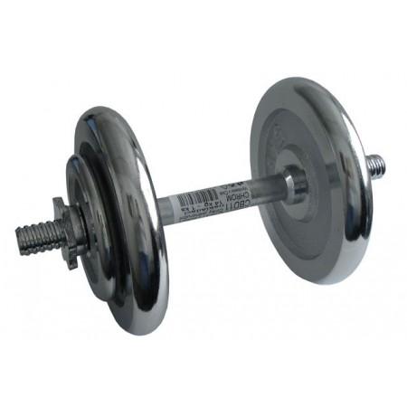 Jednoruční nakládací činka chromovaná, 14 kg