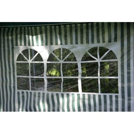 2 ks boční stěna s okny pro zahradní párty stany, bílá / zelená