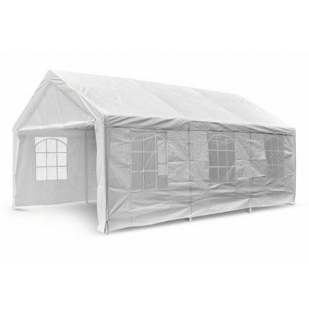 Elegantní zahradní stan s kovovou konstrukcí 4x6 m, bílý