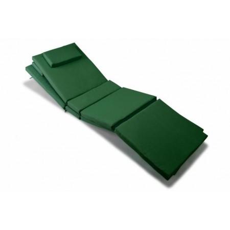 2 ks polstr na lehátko se snímatelným potahem - zelené