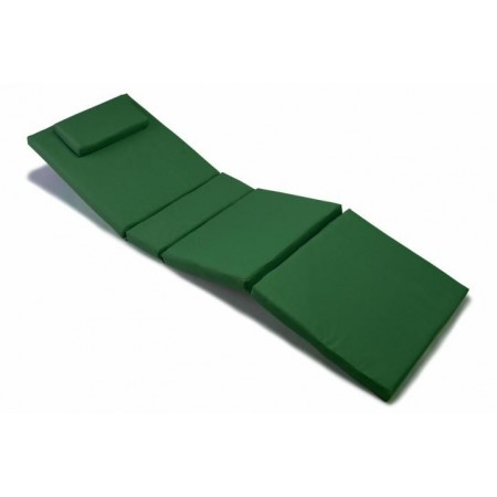 Polstr na lehátko se snímatelným potahem - zelený