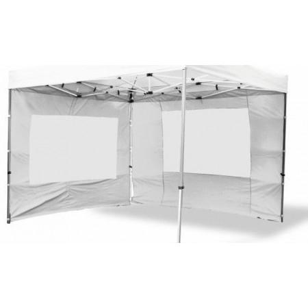 2 ks boční plachta s okny pro zahradní stany Profi, bílá