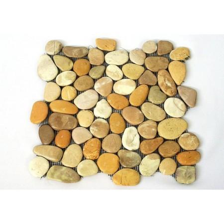 Obklad / dlažba - mozaika z přírodního kamene- oblázky, 1 ks