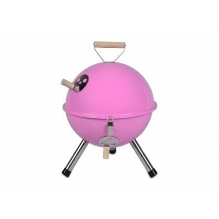 Designový kotlíkový mini gril- kulatý, růžový