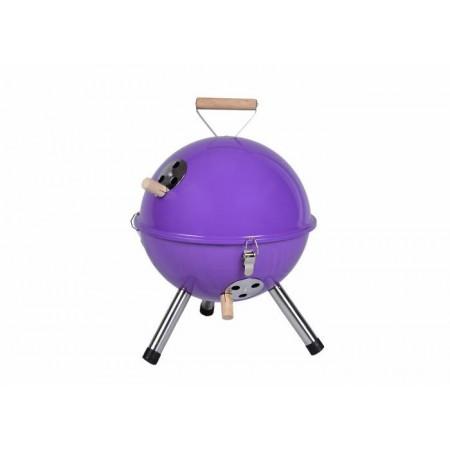 Designový kotlíkový mini gril- kulatý, fialový
