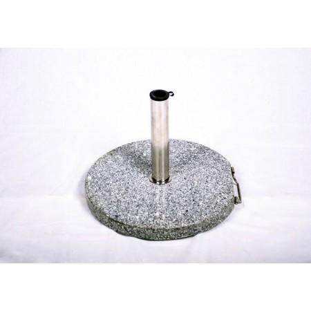 Kulatý stojan na slunečníky do 3 m, žula / nerez, 25 kg