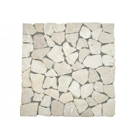 Obklad / dlažba - mozaika z přírodního kamene- šedivý mramor, 1 m2