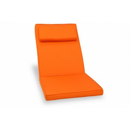 Polstr na židli voděodolný, pratelný potah, oranžový