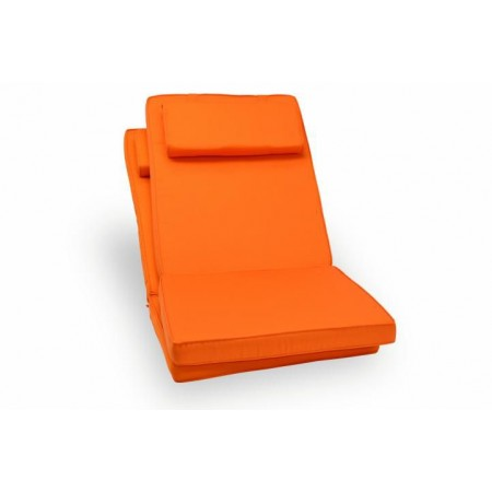 2 ks polstr na židli voděodolný, pratelný potah, oranžový
