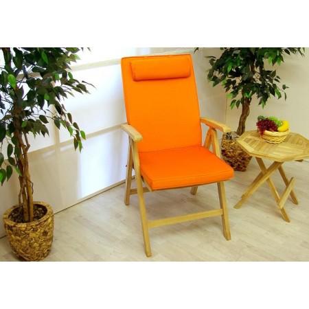 4 ks polstr na židli voděodolný, pratelný potah, oranžový