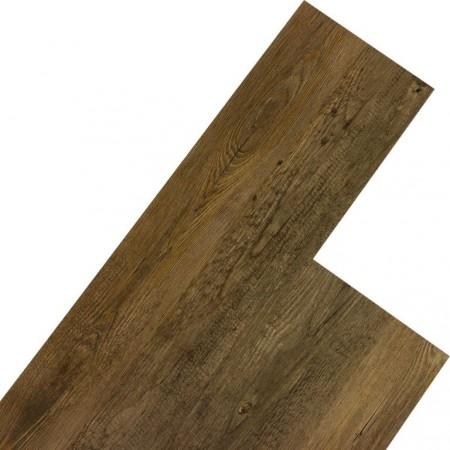 Vinylová plovoucí podlaha, dřevodekor - kafrové dřevo hnědé, 5,07 m2