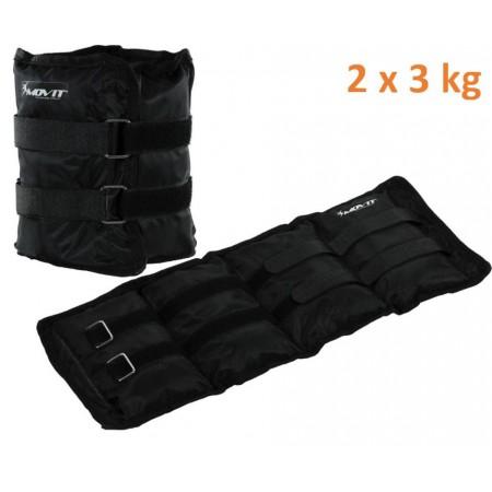 Fitness zátěže na ruce a nohy, 2 x 3 kg, černé