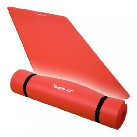 Podložka pro cvičení a gymnastiku, NBR pěna, 190 x 100 x 1,5 cm, červená