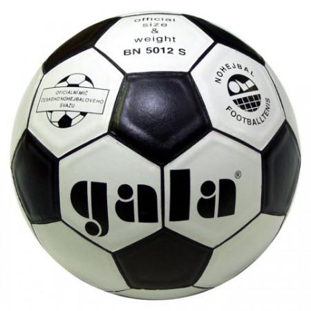 Nohejbalový míč GALA, syntetická useň, černá / bílá